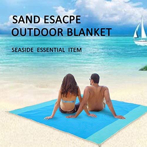 200 X 200cm Beach Mat Sand Free Magic Mat Beach Sandless Foldable Outdoor Waterproof Blanket Camping Picnic Folding Mat Camping Mat Camping & Hiking