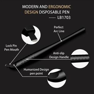 Image 2 - 10 шт. одноразовая ручка для микроблейдинга 18U/14pin EO Gas стерилизованные 3D микролезвия инструменты машинка для перманентного макияжа татуировки бровей