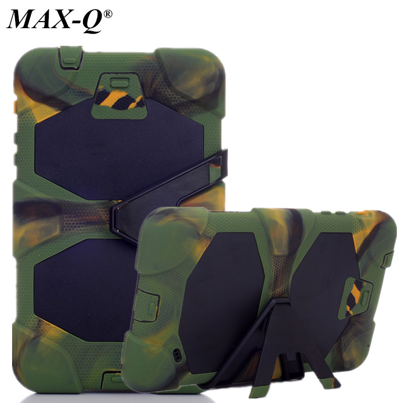 MAX-Q 3 IN 1 Dirt Shock Proof Silicon Super Case Cover For Samsung Galaxy Tab 4 Tab4 8.0 T330 T331 Multifunction stand case
