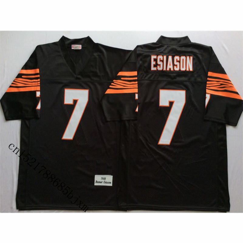 Mens 1988 Retro Boomer Esiason Stitched Name&Number Throwback Football Jersey Size M-3XL ...