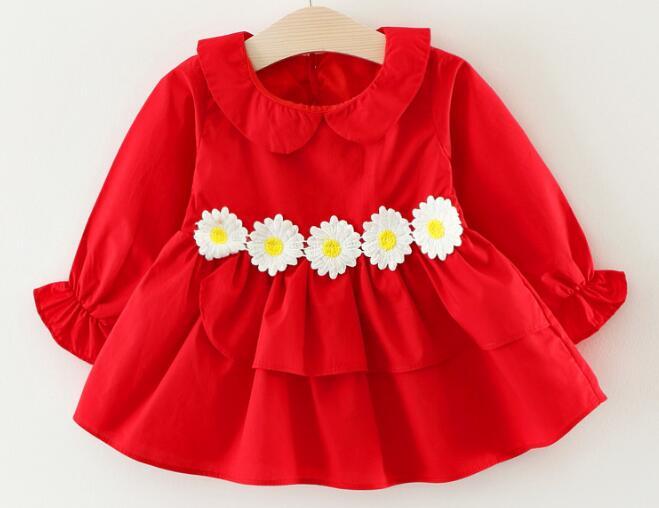 1 Teile/los Gewidmet 100% Baumwolle 2017 Rote Blume Baby Oberbekleidung 0-3 Jahre Alt 73-100 Cm