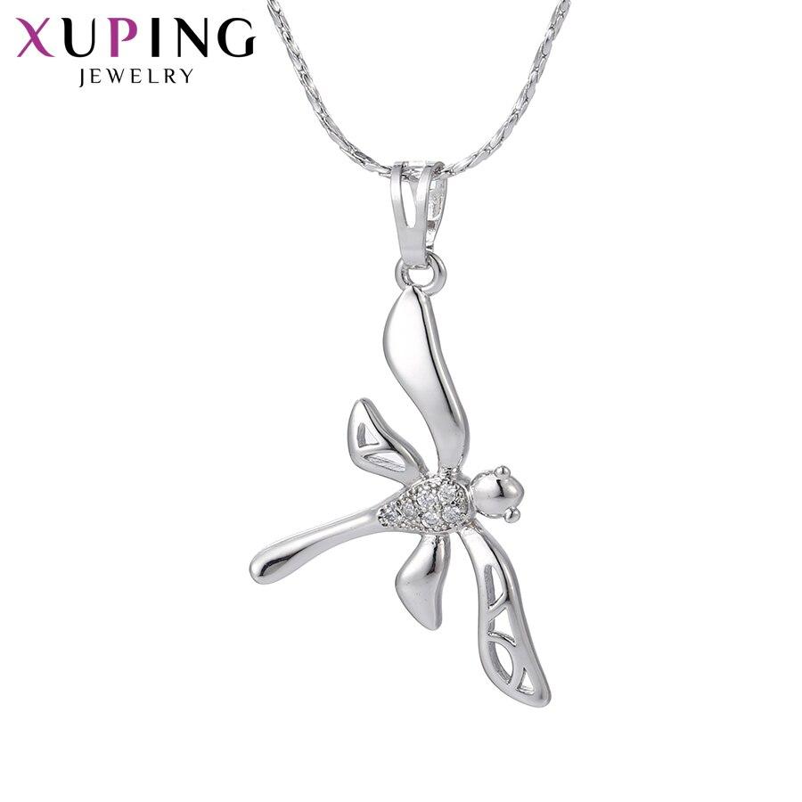 11,11 сделок Xuping Мода стрекоза кулон родий Цвет покрытием украшения для Для женщин подарок на день матери M35-30078