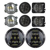 7 Headlights DRL Hi Lo Beam 4 Inch Fog Lamp Front Grille Turn Signal Lights Fender
