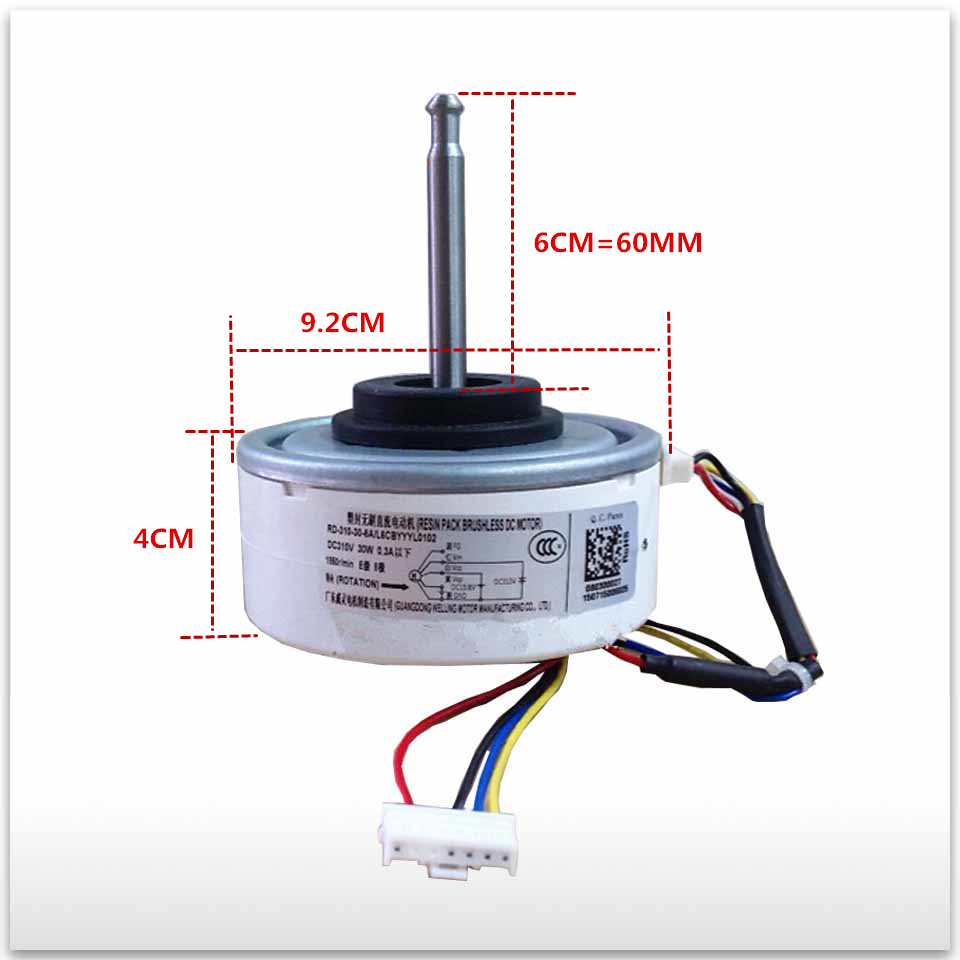 100% new for air conditioner motor RD-310-30-8A L6CBYYL0102 RD-310-30-8A DC motor good working стоимость