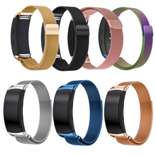 For Samsung Gear Fit 2 Bands, Accessory Milanese Loop Stainless Steel Band with Unique Magnet Clasp for Gear Fit 2 Fit2 SM-R360