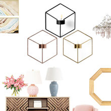 DIY Wall Mounted 3D Geometric Candlestick Tea Light Candle Holder Metal Candlestick Home Decor NEW candlestick candle holder 3d geometric tea light wall mounted metal candlestick party wedding dining home decor candle holder