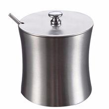 Stainless Steel Salt Pepper Bottle Cruet Condiment Sugar Jar High Quality Salt Pepper Bottle Kitchen Tableware Tools