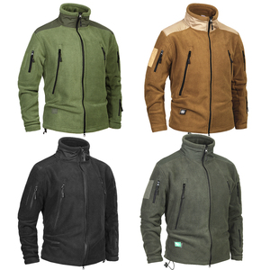Image 2 - Mege 브랜드 의류 코트 남성 Thicken Warm Military Army 양털 재킷 패치 워크 멀티 포켓 Polartec Mens Jacket and Coats