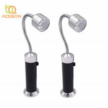 ACEBON 2pcs Magnetic Base Adjustable Use Battery Super Bright Barbecue BBQ Reading Light Gooseneck LED Lights Outdoor lighting(China)