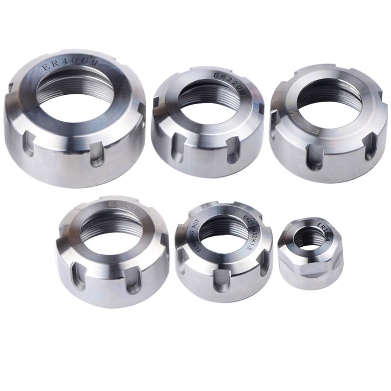 цена на 1pc high precision er collet nut ER16 ER20 ER25 ER32 ER40 milling maching clamping nut CNC milling engraving machine collet nut
