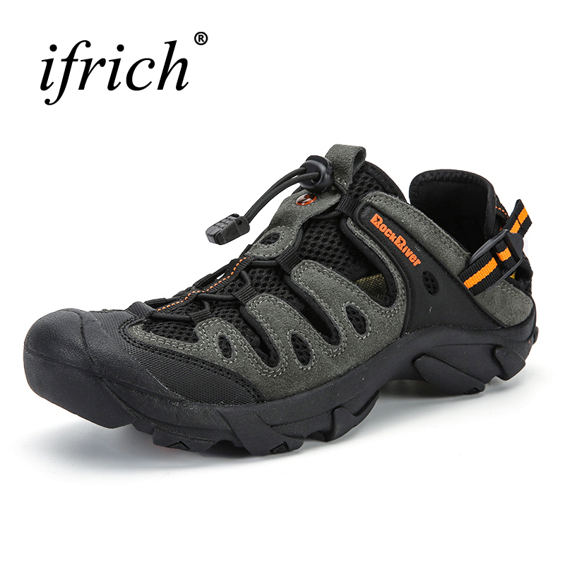 New Men Hiking Shoes Breathable Outdoor Sandals Spring/Summer Trekking Sandals Big Size Men Mountain Climbing Sneakers Brand humtto new hiking shoes men outdoor mountain climbing trekking shoes fur strong grip rubber sole male sneakers plus size