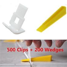 700 Плитка Выравнивания Системы 500 Клипы + 200 Клинья-Плитка Уравнитель Распорки Lippage Для Плитки Инструменты