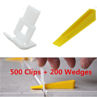 700 Tile Leveling System 500 Clips 200 Wedges Tile Leveler Spacers Lippage For Tiling Tools