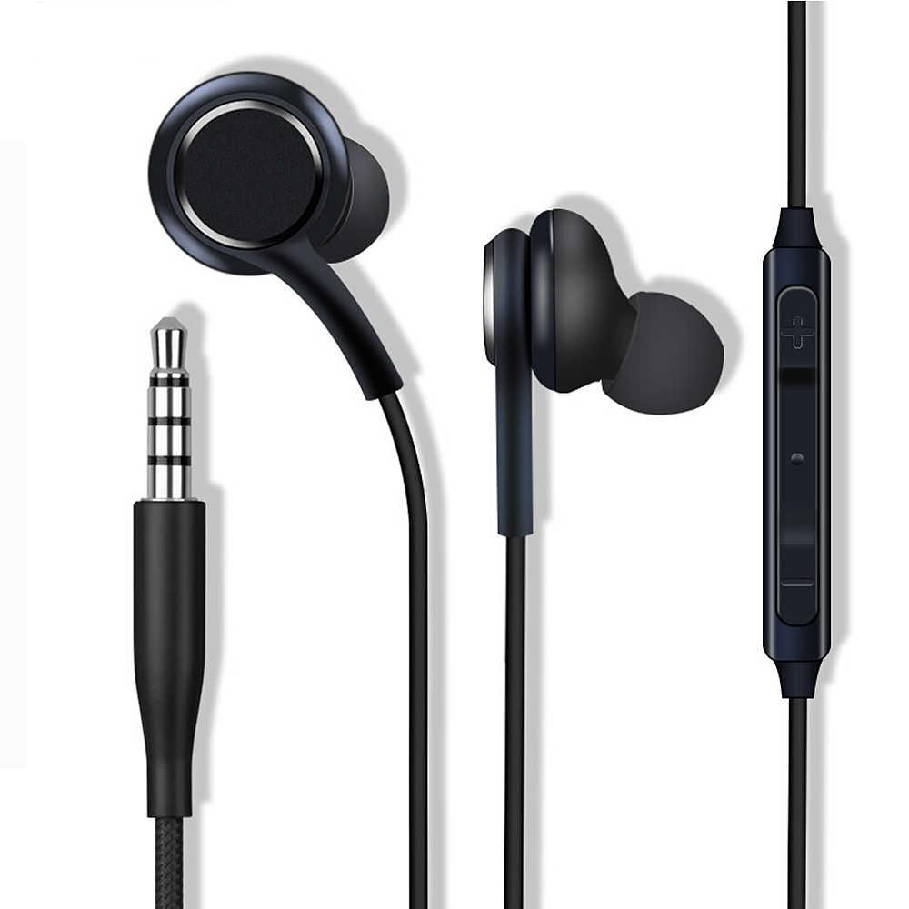 Do Samsung S8 S9 sportowe słuchawki z mikrofonem 3.5mm douszne słuchawki przewodowe słuchawki douszne słuchawki douszne Stereo dla graczy Gamer zestaw słuchawkowy uniwersalny dla Xiaomi