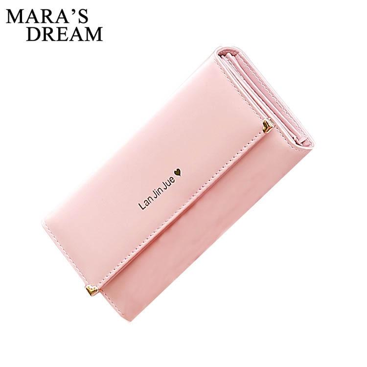 Mara's Dream 2018 Wallets Female Coins Cute Wallet Women Long Leather Women Wallets Zipper Purses Portefeuille Wallet Purse Bags