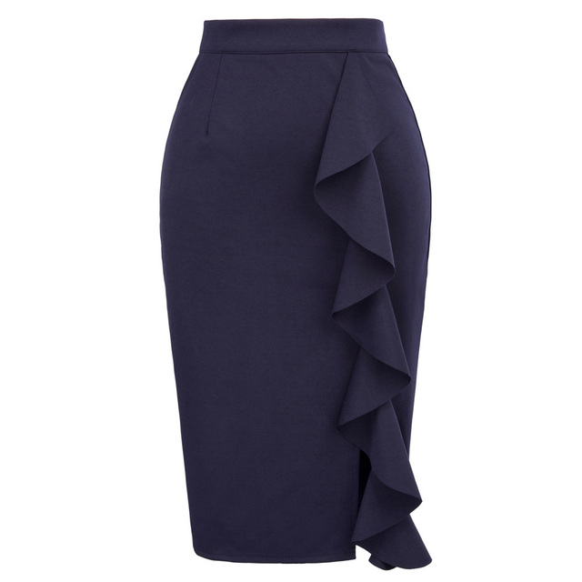 Pencil Skirts Womens 2018 New Sexy Ruffles Skirt Wear to ...