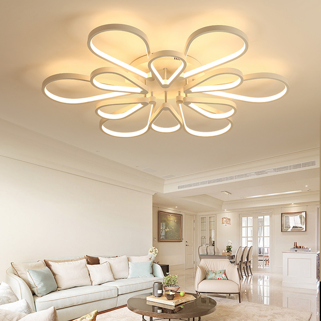 Remote Control Ceiling light Dimmable White LED Modern Lamp Home Bedroom Decoration Lighting Fixture Living Room Iron Acrylic