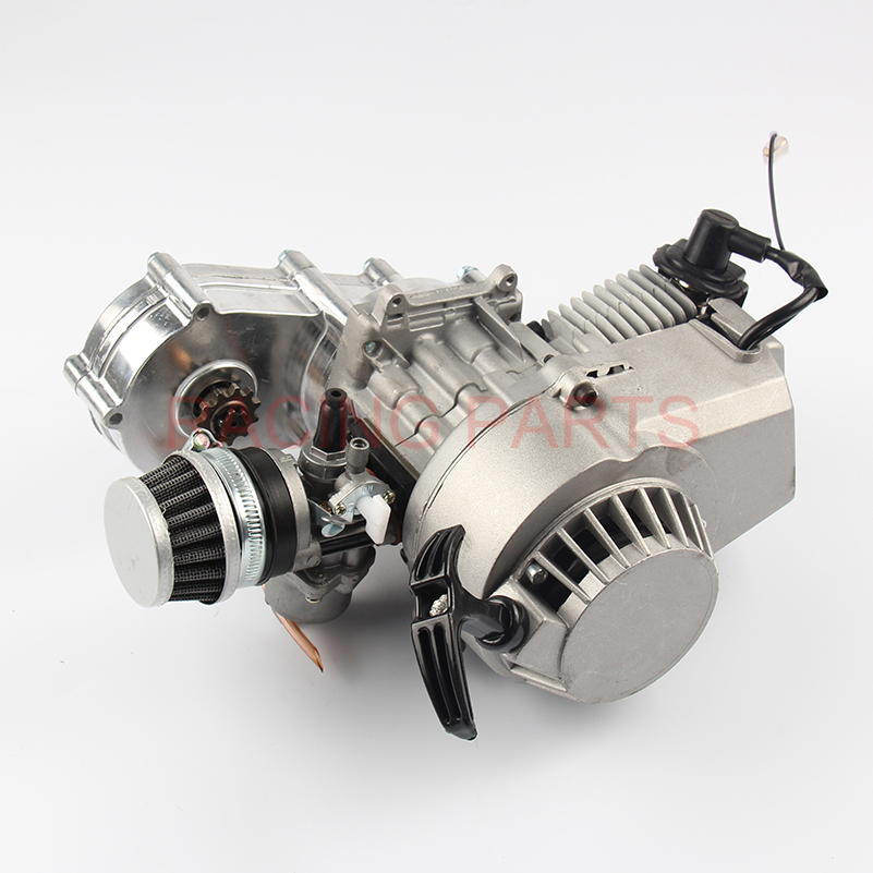 49cc 2 stroke Engine Motor for Mini Pocket Bike Scooter Dirt Bikes ATV Quad Motorized Bicycle 49cc engine plastic pull e start 15mm carburetor mini moto for 49cc pocket atv quad buggy dirt pit bike chopper gas scooter