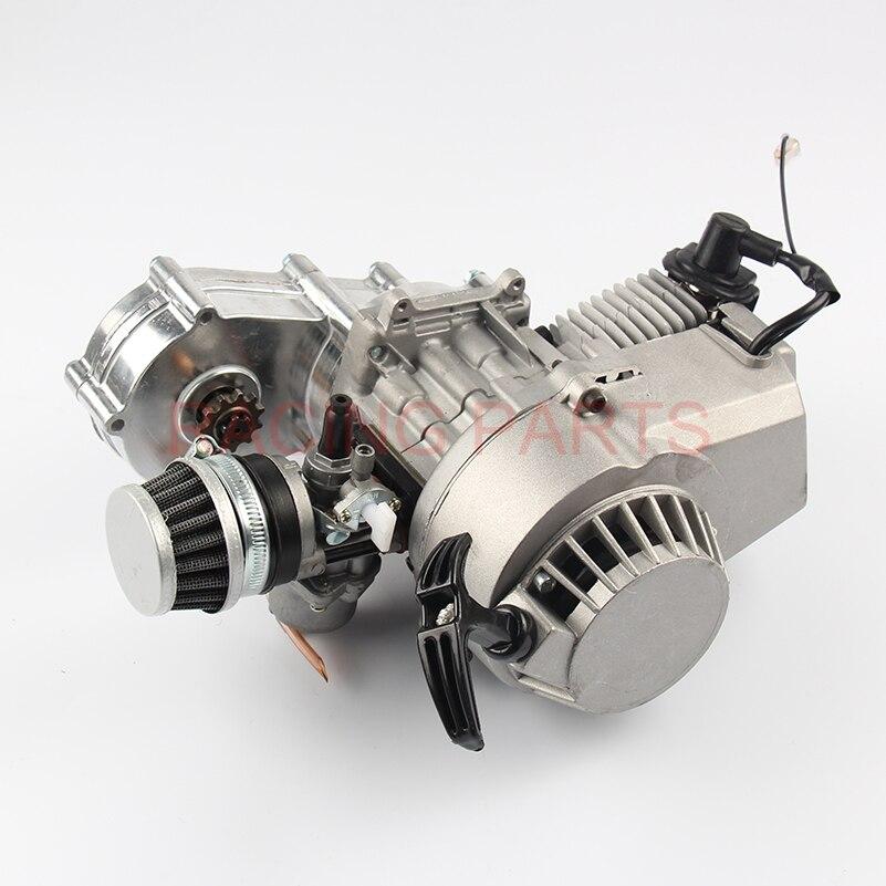 49cc 2 stroke Engine Motor for Mini Pocket Bike Scooter Dirt Bikes ATV Quad Motorized Bicycle