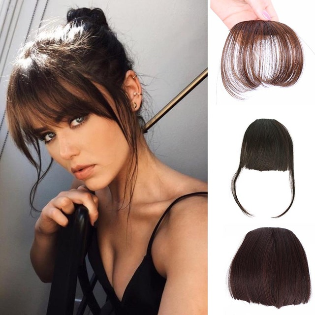 Aisi Beauty Synthetic Bang Natural Brown Blond Black Fake Fringe
