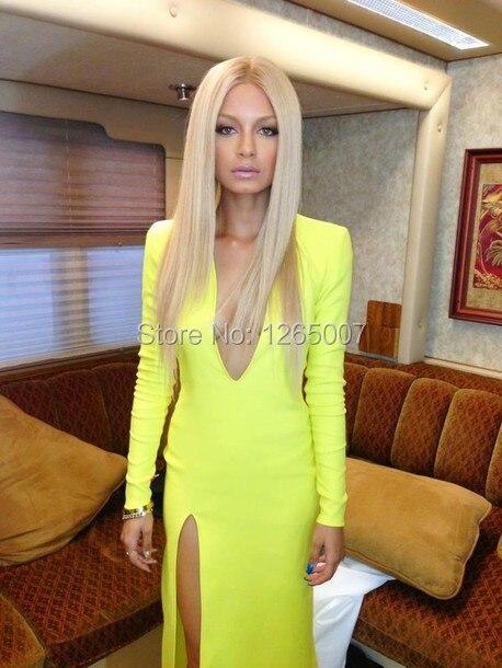 Long sleeve deep v-neck maxi dress