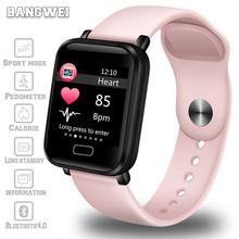 LIGE new smart watch women Sport pedometer bracelet heart rate monitor Fitness Tracker LED screen color ladies watches