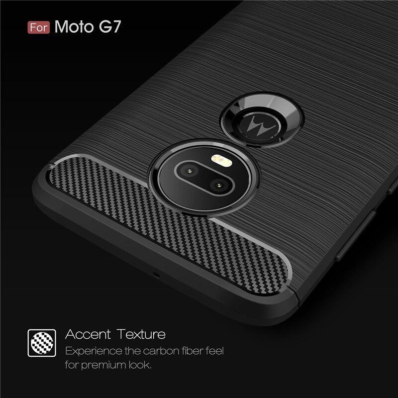 For Motorola G7 Carbon Fiber Rugged TPU Case For Moto E4 E6 G5 G5S G6 Plus Z3 Z4 Play P40 P30 Note Power E5 Play Go Soft Cover