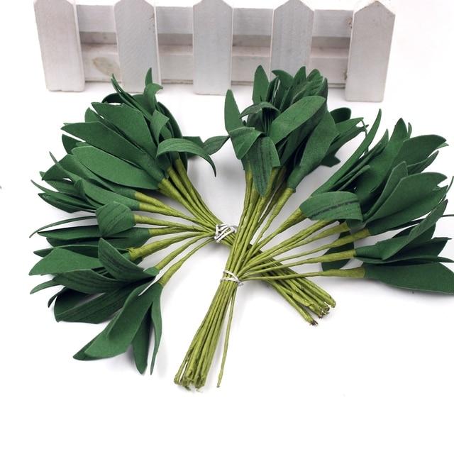 20pcs Green Foam Artificial Leaf Bouquet For Wedding Party Decoration Accessories Leave Fleurs Sbooking Diy Craft