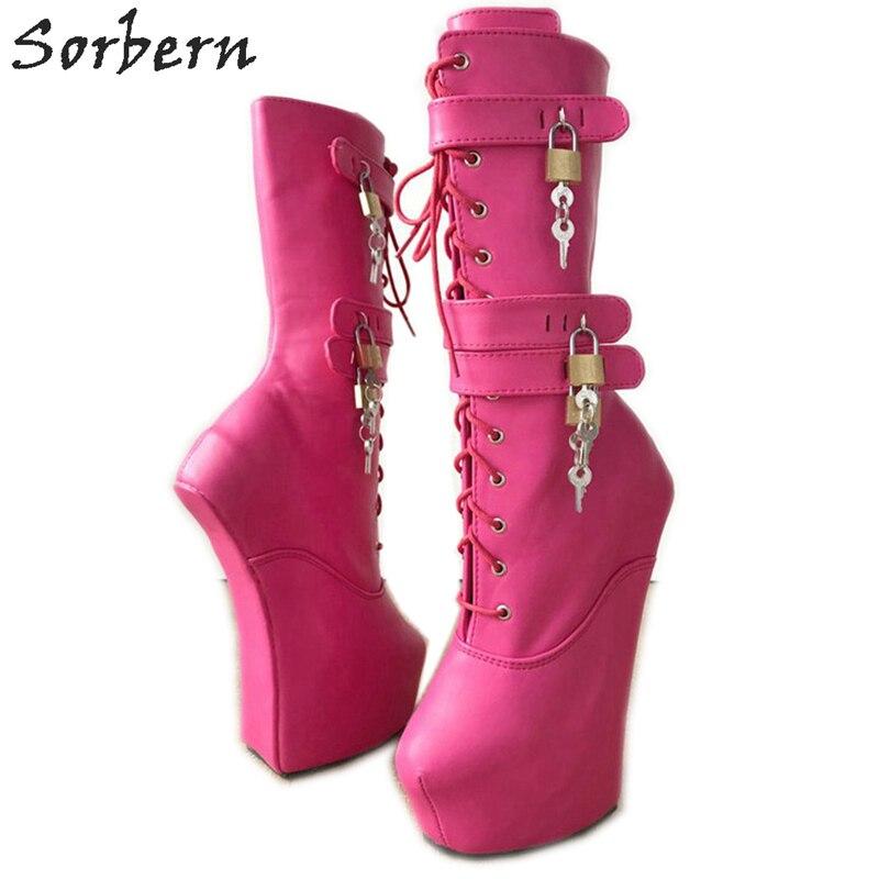 d98155a29 Botas con cierre de media pantorrilla sorberna para mujer, zapatos para  mujer, tacones gruesos ...