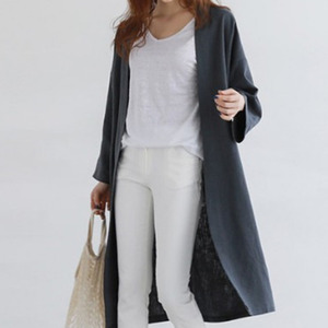 Image 4 - LANMREM 2020 autumn New Casual Fashion Temperament Women Jacket Loose Plus Solid Color Single breasted Cotton Cardigan TC465