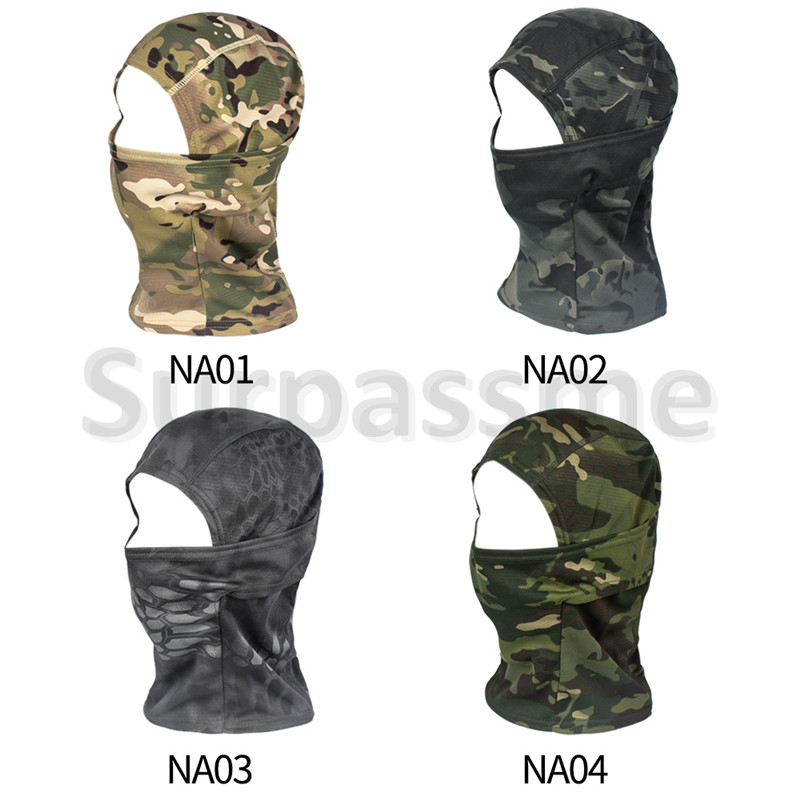 Camouflage riding headgear mask Army green four color