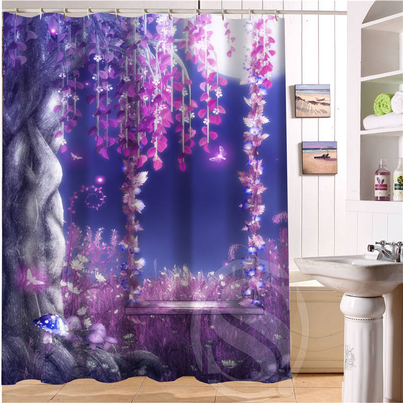 Free Shipping Amazing scenery Custom Shower Curtain MORE SIZE Waterproof Fabric Shower Curtain for Bathroom SQ0520-S290