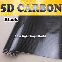 Premium High Glossy Black 5D Carbon Fiber Vinyl 5D Carbon Fibre Wrap 5D Carbon Fiber Film Air Free Bubble For Vehicle Motorcyle