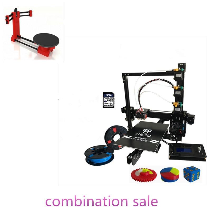 Сочетание распродажа-Prusa EI3 тройной сопла большой размер печати 3D комплект принтера добавления ciclop DIY 3D сканер комплект