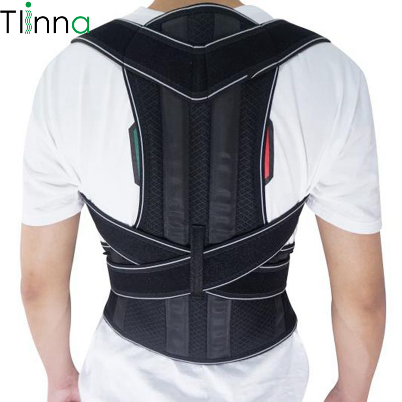 Men Women Brace Back Belt Lumbar Support Adjustable Bodywellness Posture Corrector Shoulder Orthopedic Spine Belt