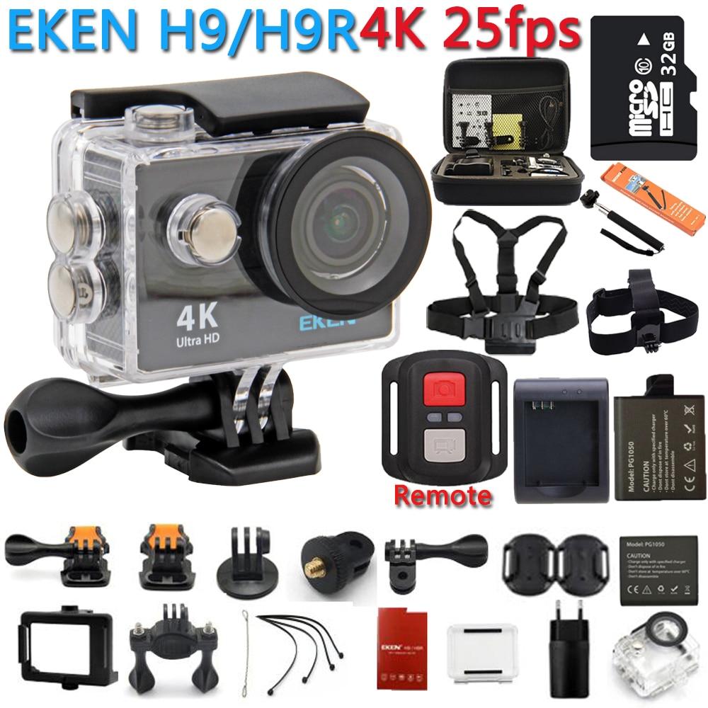 Действие Камера 100% Оригинал Экен h9r/h9 4 К WiFi Действие Спорт Камера шлем видео CAM Подводный водонепроницаемая Спорт камера