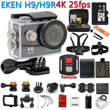 Câmera de ação 100% Original eken H9R/H9 4 K WiFi Ação Esporte Câmera Do Capacete Câmera De Vídeo Subaquática à prova d' água Esporte câmera