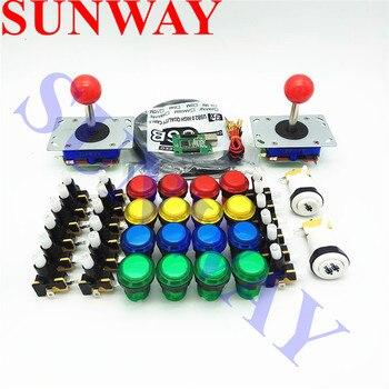 DIY Arcade cabinet Parts Bundles Kit Joystick Small round illuminated 12V Push button PC PS3 Arcade USB controller Jamma MAME