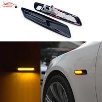 2 X Trim LED Fender Side Marker Light Turn Signal Lamp For BMW E60 E82 E87