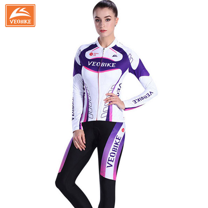 Women 2017 Pro Team Racing Bike Clothing Set MTB Lady Cycling Jerseys Long Bicycle Clothing Womens Cycle Sports Wear