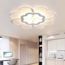 28W Led Children Lamps Modern Acrylic Ceiling Lights Fixtures Bedroom Living Room Kitchen Home Lighting White Iron 110-220V