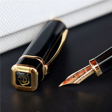 Hero 979 Square Cap Metal Fountain Pen Golden Plates Clip Iridium Fine Nib 0.5mm Fashion Writing Ink Pen for Office Business