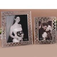 Wedding studio retro photo frame creative hollow flower tin ancient photo frame couple baby photo frame