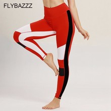 2019 Fitness Women Patchwork Yoga Leggings Sports Femme Breathable Elastic Pants for Gym Running Tights Workout