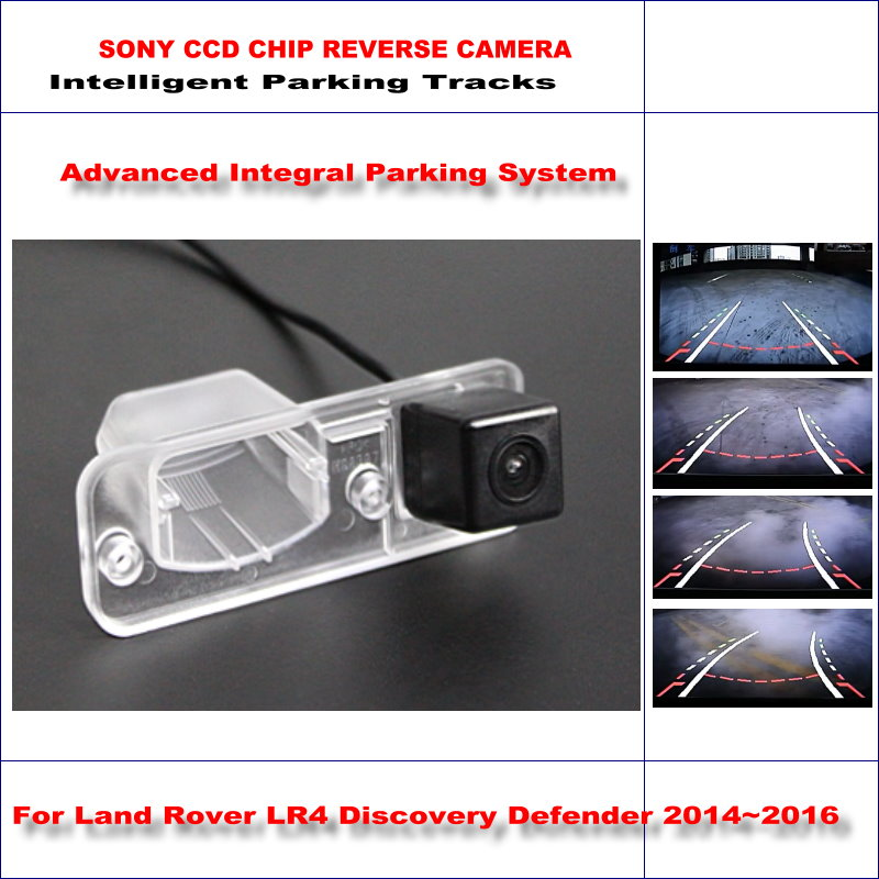 Backup Rear Reverse Camera For Land For Rover LR4 Discovery Defender 2014~2016 HD TV Lines Intelligent Parking Tracks