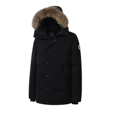 2017 Brand New Waterproof Mens thick CARSON PARKA big coyote fur real feather down short coat