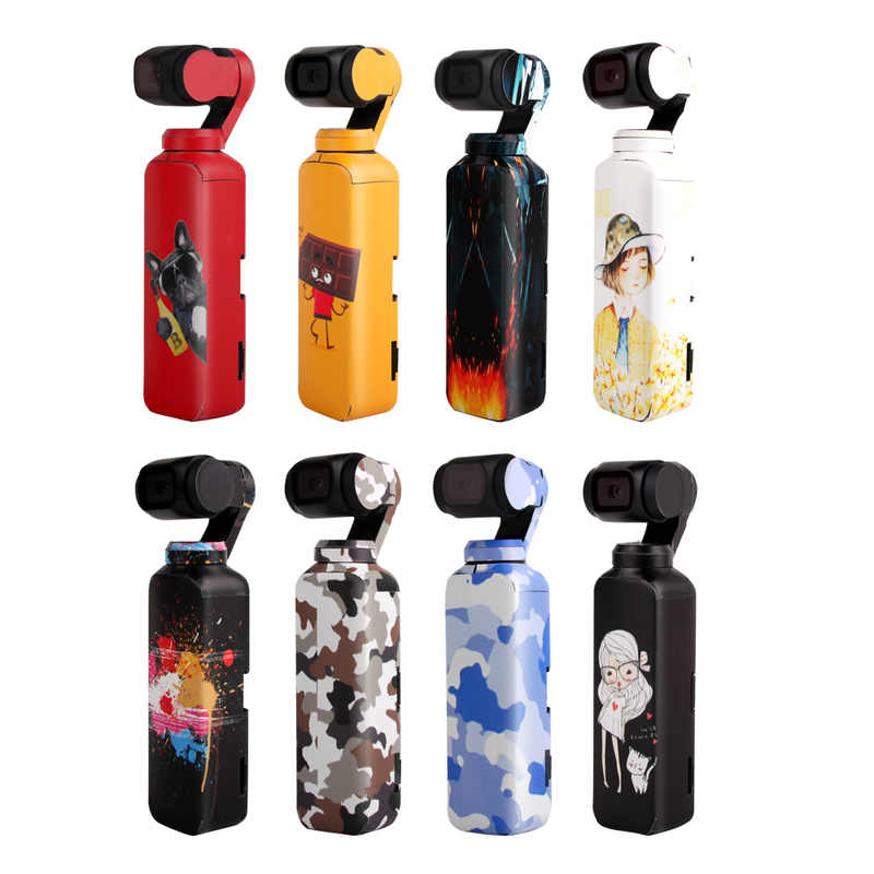 For DJI OSMO Pocket Waterproof Stickers Handheld Gimbal Colorful/Camouflage Decals 3M Scotchcal Film Skin Stickers Accessories