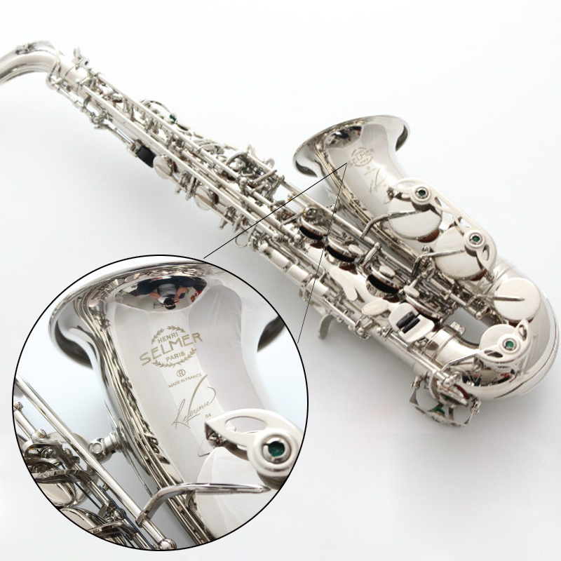 New Saxophone Alto France Selma SAS-R54 Music Instrument high quality Eb Saxophone Gift way shipment Nickel Plated Sax alto saxophone 54 eb flat alto sax top musical instrument sax wear resistant black nickel plated gold process sax