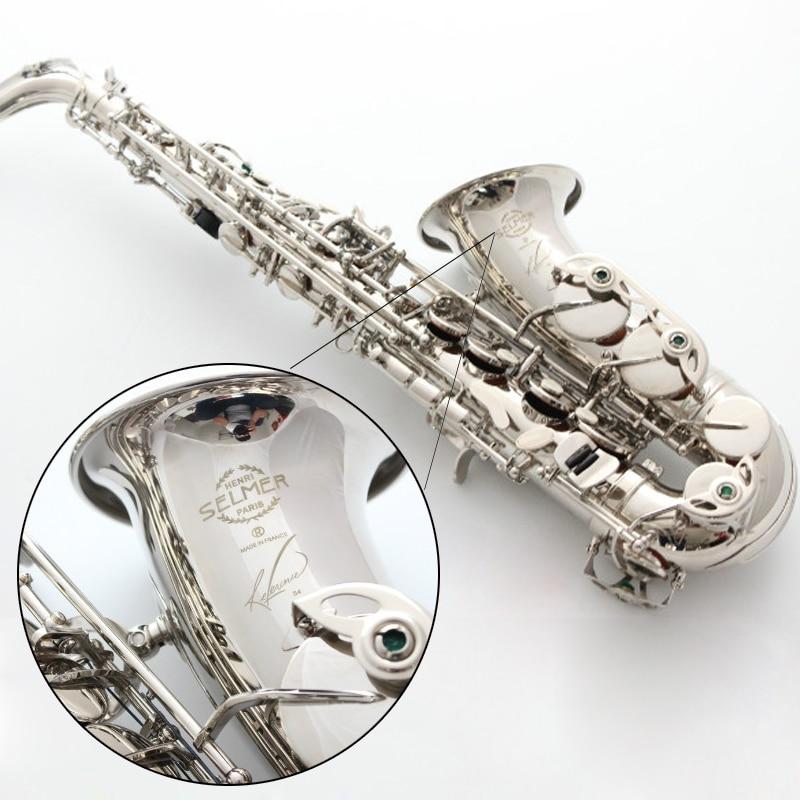 Nuovo Sassofono Contralto Francia Selme SAS R54 Eb Piatto Saxofone Nichel argento In Ottone Sax Custodia dello strumento musicale Professionale, Boccaglio