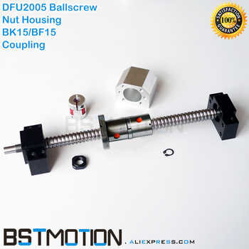 2005 Ballscrew 300mm 400 500mm 600mm 700 750mm 800 900 1000mm 1100mm 1200mm 1500mm DFU2005 Double Ballnut +BK15 BF15 Coupling - SALE ITEM Home Improvement